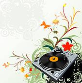 turntable and flowers
