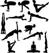 Sexy Yoga Silouettes