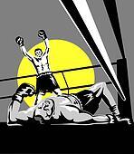 Boxer winning