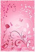 Pink Grunge Rose Garden