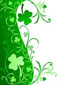 Fancy Shamrock Border