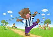 Bear go fishing