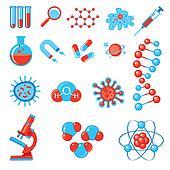 Trendy science icons