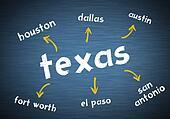 Texas written blackboard concept
