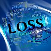 Loss Sad Represents Broken Hearted And Anguish