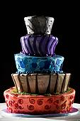Super cool wedding cake - very funky and fun!