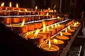 Group of Votive Candle in a Row