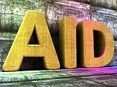 Aid Word Indicates Charitable Assisting And Faq