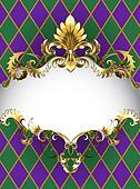 luxury banner Mardi Gras