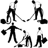 Business Cleaning Silhoue