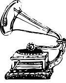Music Gramophone Isolated Vector