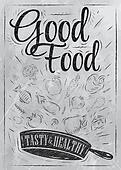 Poster good food coal