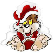 Bear as Santa Claus