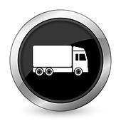 delivery black icon truck sign