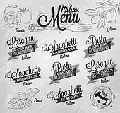 Menu Italian names of spaghett coal