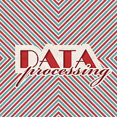 Data Processing Concept on Striped Background.