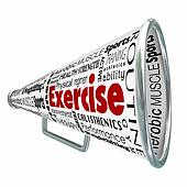 Exercise Bullhorn Megaphone Coach Training Physical Conditioning
