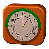 Concept - Daylight Saving Time Ends. 3D rendering.