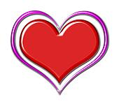 Red Chrome Heart