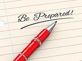3d pen on paper - be prepared