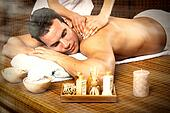 Man having massage.