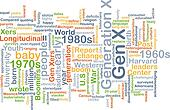 Gen X wordcloud concept illustration