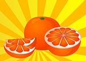 Cut orange illustration