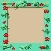 tropical frame