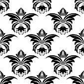 Seamless floral arabesque pattern