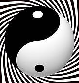 Yin Yang Symbol With Spiral