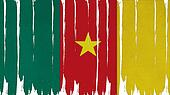 Cameroon Flag tinted vertical