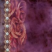 Album old  cover with roses, lace, rope, pearls