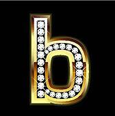 b lowercase bling