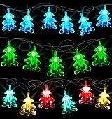Set of glowing Christmas trees