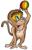 Monkey and ball