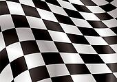 checkered flag bellow