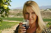 Pretty Girl Sip Wine