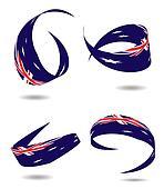 Aus flag ribbon