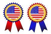 USA badges vector