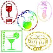 Retro set of drinks