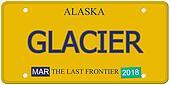 Glacier Alaska License Plate
