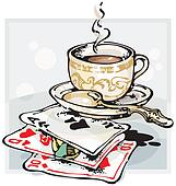 Coffee Cup and Cards