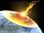 Collision of an asteroid with the Earth