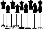 Set Of Different Tailor's Mannequin