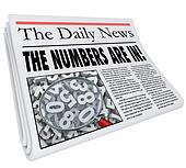 Numbers are In Newspaper Headline Quarterly Monthly Annual Resul