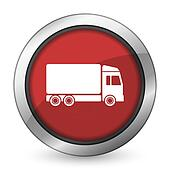 delivery red icon truck sign