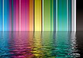 rainbow band water