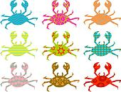 patterned crabs