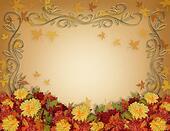 Thanksgiving Fall Border