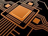 Central Processing Unit. Technology background